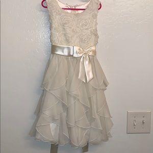 Off white flower girl dress